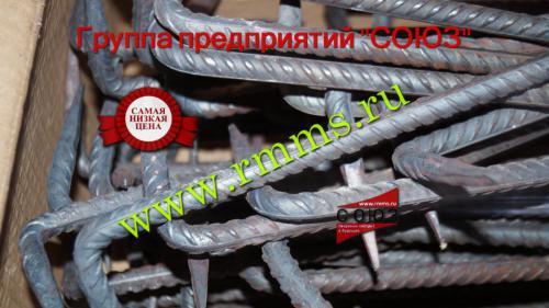 скоба строительная с коваными концами